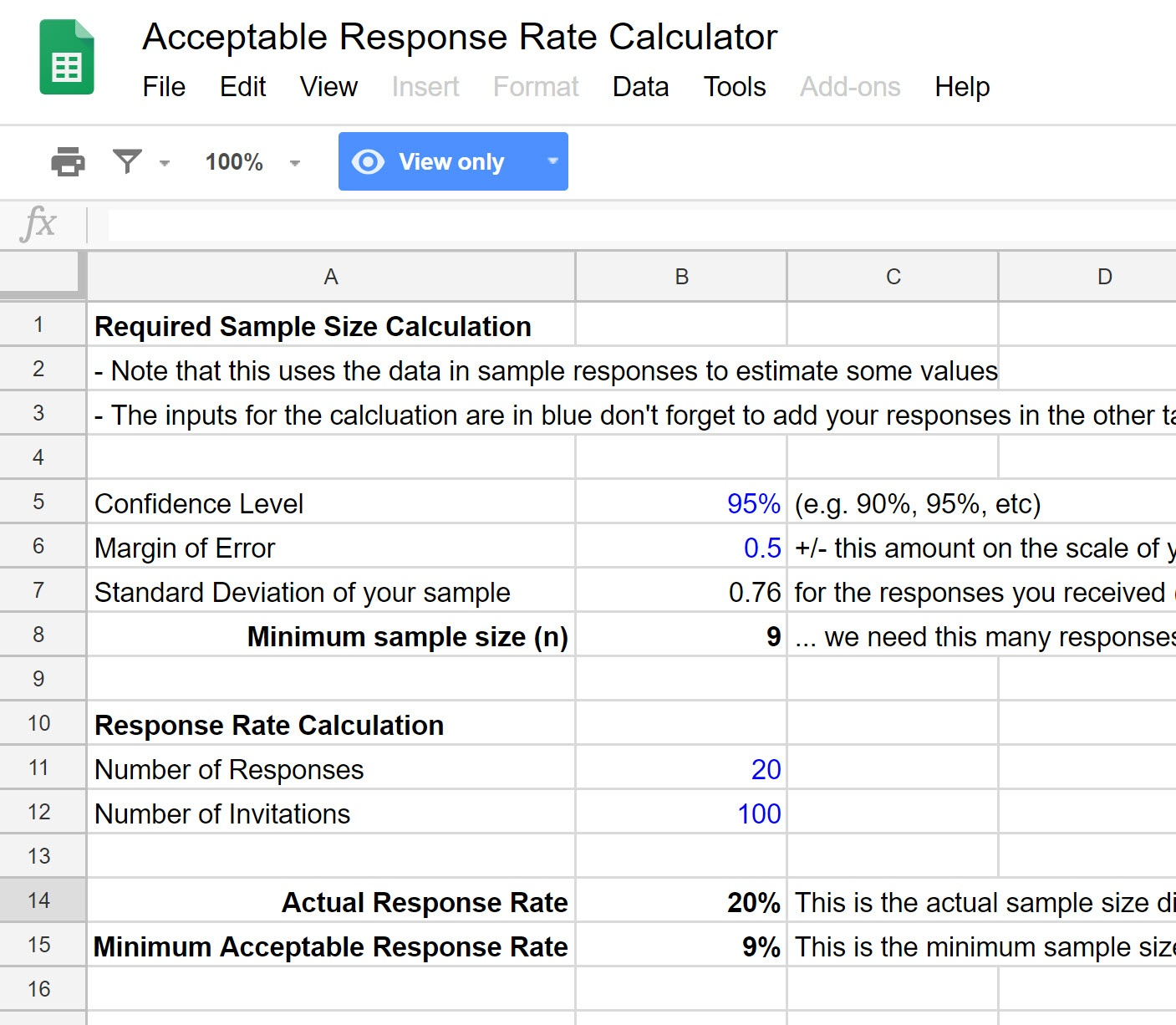 acceptable-response-rate-calculator